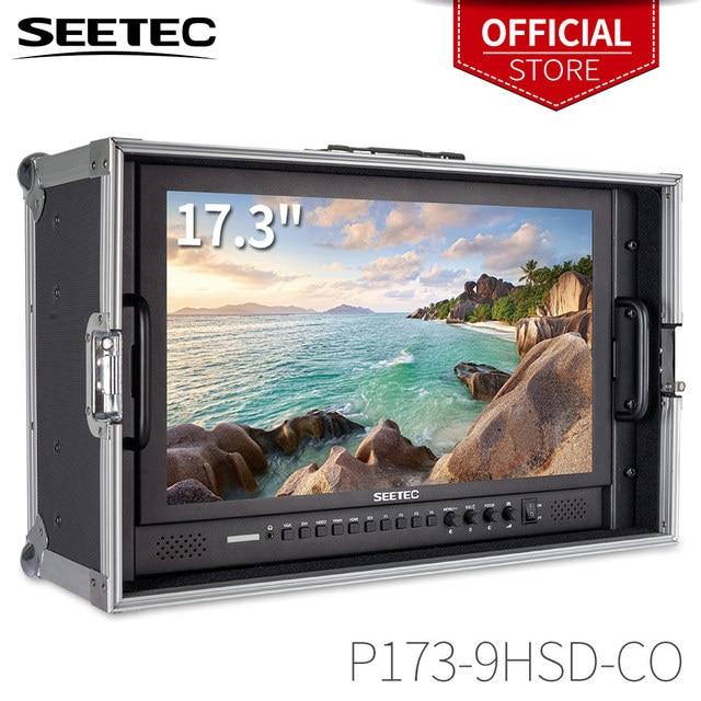 Seetec P173 9HSD CO 17.3 אינץ IPS 3G SDI HDMI שידור צג עם AV YPbPr לשאת על LCD מנהל צג עם מזוודה
