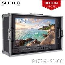 Seetec P173 9HSD CO moniteur de diffusion 17.3 pouces IPS 3G SDI HDMI avec moniteur de directeur LCD de cabine YPbPr AV avec valise