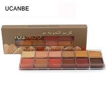 UCANBE Brand 12 Color Cream Concealer Kit Face Makeup Bronzer Contour Palette Base Primer Foundation Whitening Brighten Make Up