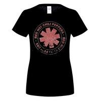 GILDAN Women S Red Hot Chili Peppers Distressed Asterisk T Shirt Californication Rock Design Tops Soft
