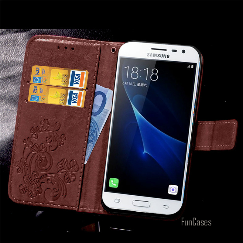 Luxury Stand Leather Case For Samsung J3 Pro Wallet flip cover For Samsung galaxy j3 Pro j1110 j1119 sm-j1119 case Phone Coque /