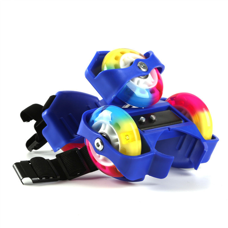 Children Colorful LED Flashing Roller Small Whirlwind Pulley Flash Wheel Portable Skating Shoes Sports Skate Roller For Kids