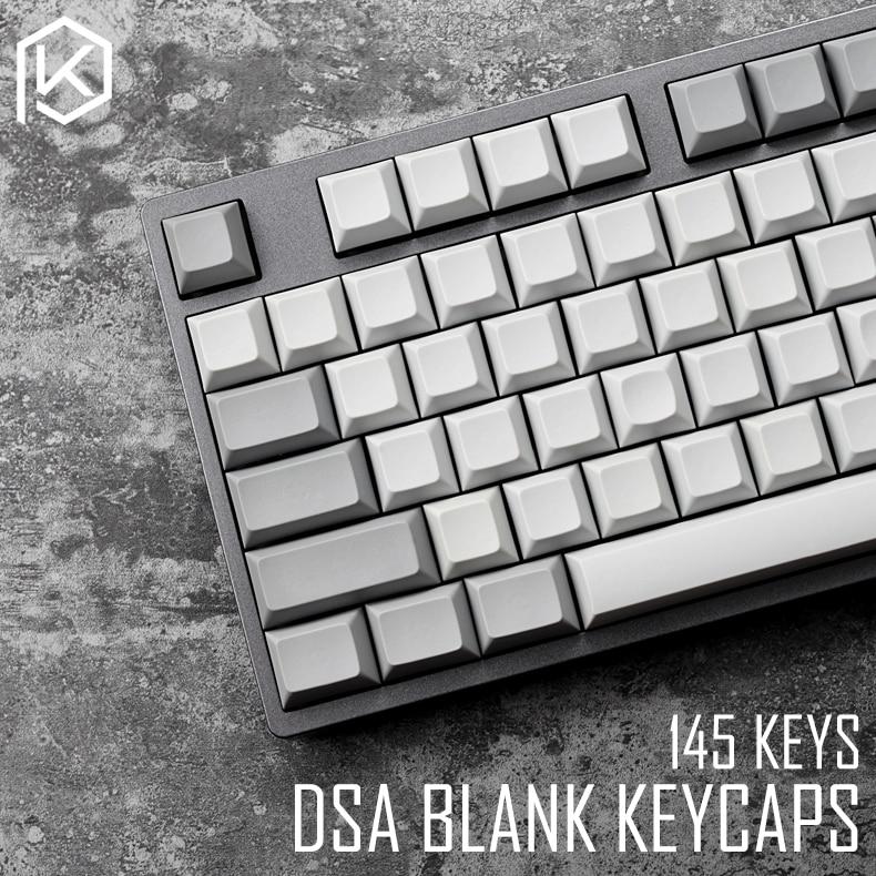 Dsa Pbt Blank Light Grey Grey Keycaps 60% Gh60 Poker2 Xd64 87 104 Xd75 Xd96 Xd84 Cosair K70 Razer Blackwidow Planck Jj40 Jj50