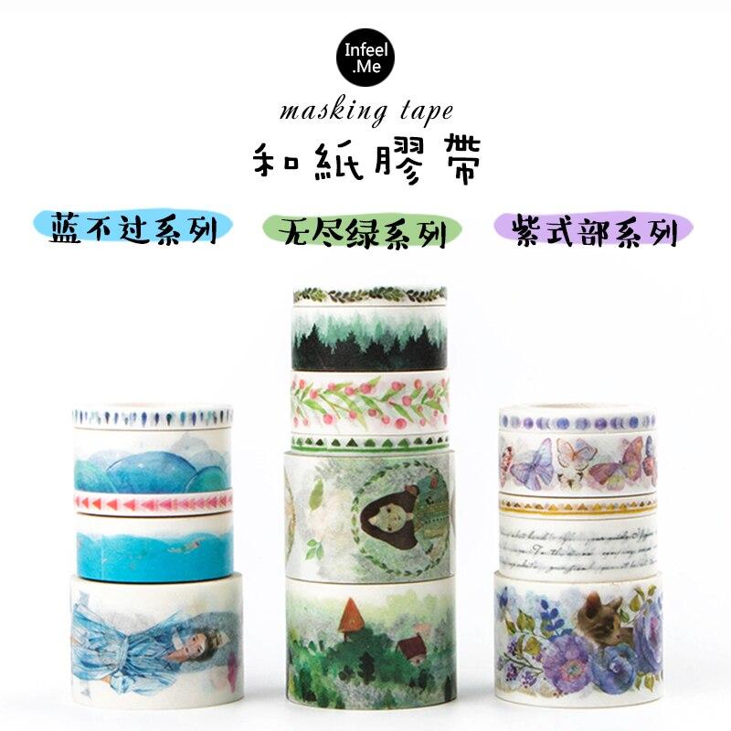 5 unids/set original chino característica papel washi tape cinta adhesiva decorativa scrapbooking diario papelería escuela herramientas 6122