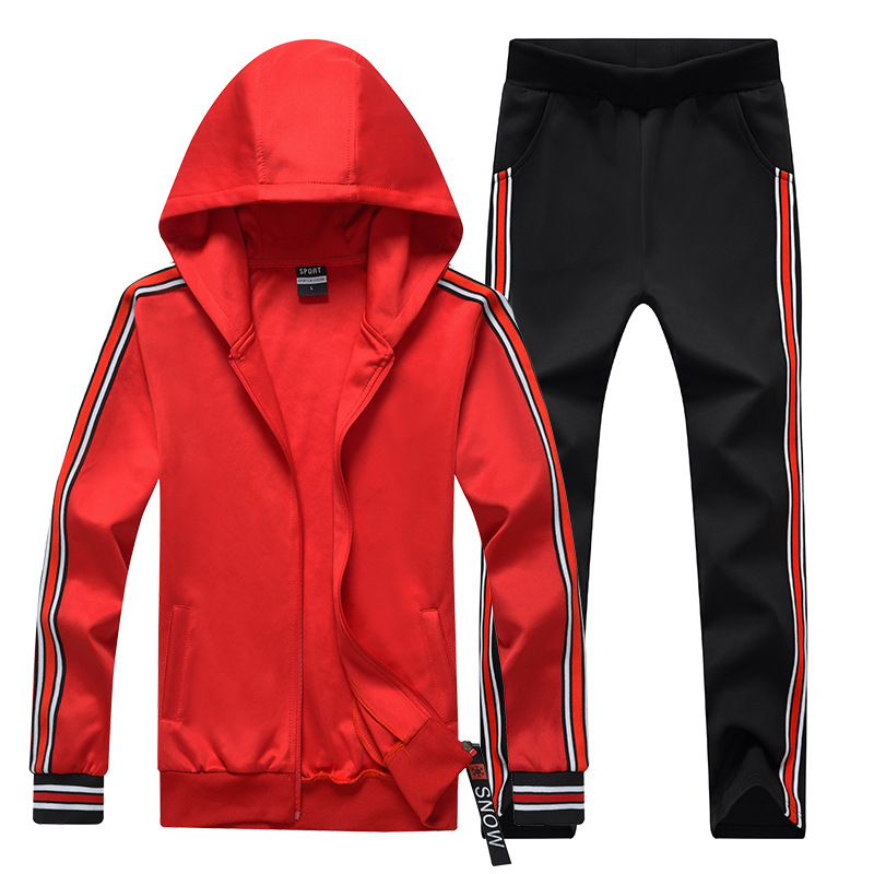 Fashion Tracksuit Men Hoodies Set Spring Autumn Two Pieces Male Sweat Track Suit Jacket Hoodie with Pants Mens Sportswear Suits