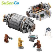 2016 Hot Star Wars R2D2 C-3PO Cápsula de Escape Hailfire Droide Minifiguras Bloque de Construcción de Ladrillos Regalos Del Bebé Juguetes Compatible con 75135