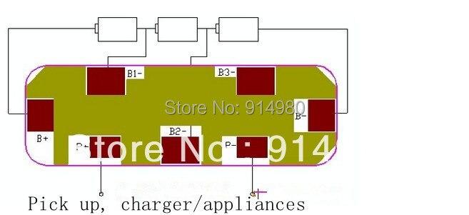 NEW 3 series 10 8V 11 1V12 6V 18650 lithium font b battery b font protection