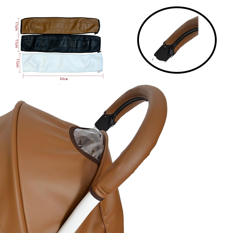Baby Stroller Accessories Leather Protective Case Cover For Armrest Bumper Bar Handrail Handle Fit Babyzenes Yoyo Yoya+ Pram