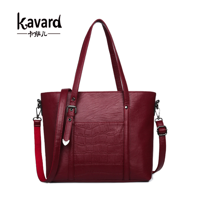 0c52efc61fca Kavard Handbag Women Shoulder Bags Luxury PU Leather Women Bags Designer  Stone Pattern Big Totes Ladies Hand bag bolsos Sac 2017