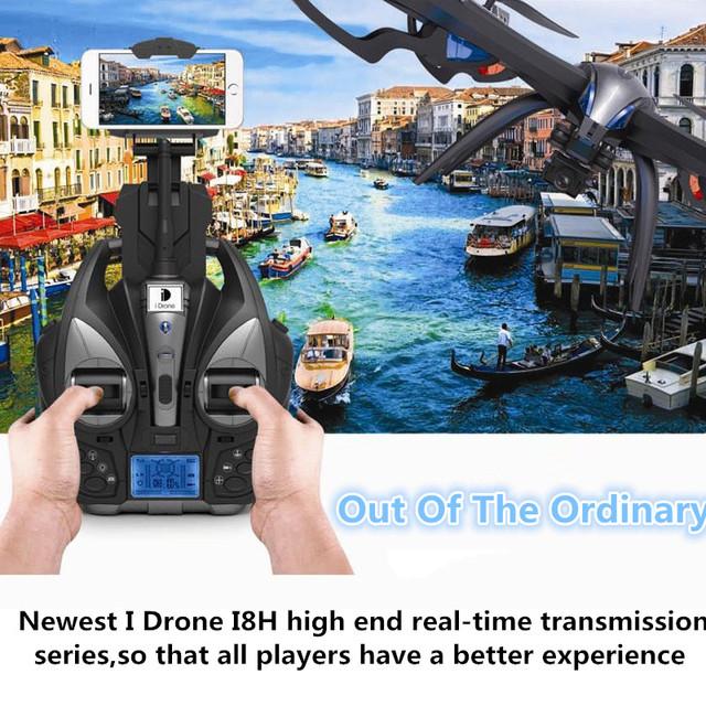 I8h más nuevo RC Helicóptero 4CH 2.4G 47.5 CM grande WIFI FPV RC Quadcopter 6-Axis Drone Profesional Con 5.0MP Cámara de ALTA DEFINICIÓN superior vs Q333