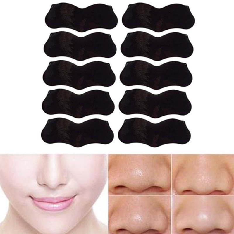 10pcs Charcoal Blackhead Remover Sticker Deep Nose Pore Cleasing Strips Bamboo Nose Sticker Black head Remover Mask