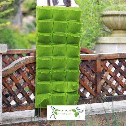 Pocketgarden Závěsný výsadbový sáček Living Wall Planter Vertikální bylinková zahrada Závěsná kvetináčová taška rozšiřuje sáčky 24 kapes