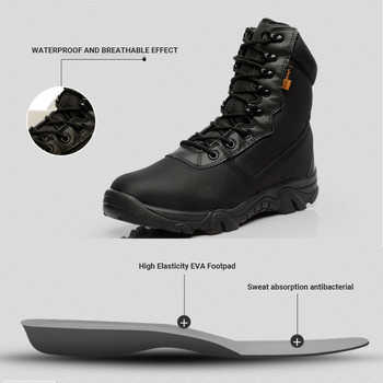 Motorcycle Boots Men Moto Motocross Riding Boots Military Boots Quality Special Force Tactical Desert Combat Army Work Boots