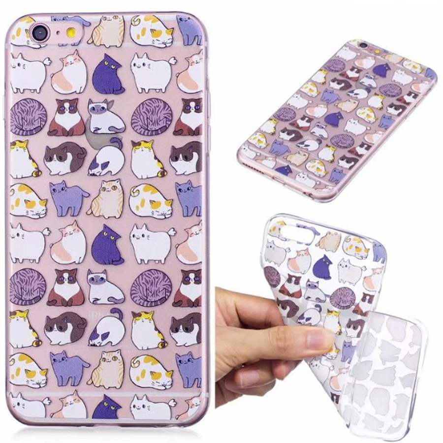 XINKSD Silicone Case for iPhone 5 6 7 Ultra Thin Transparent Vintage Oil Painting Case for Samsung S8 J3 J5 J7 2016 J3 J5 2017