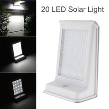 Durável à prova d20 água 20 led de energia solar ao ar livre lâmpada luz de segurança pir sensor de movimento
