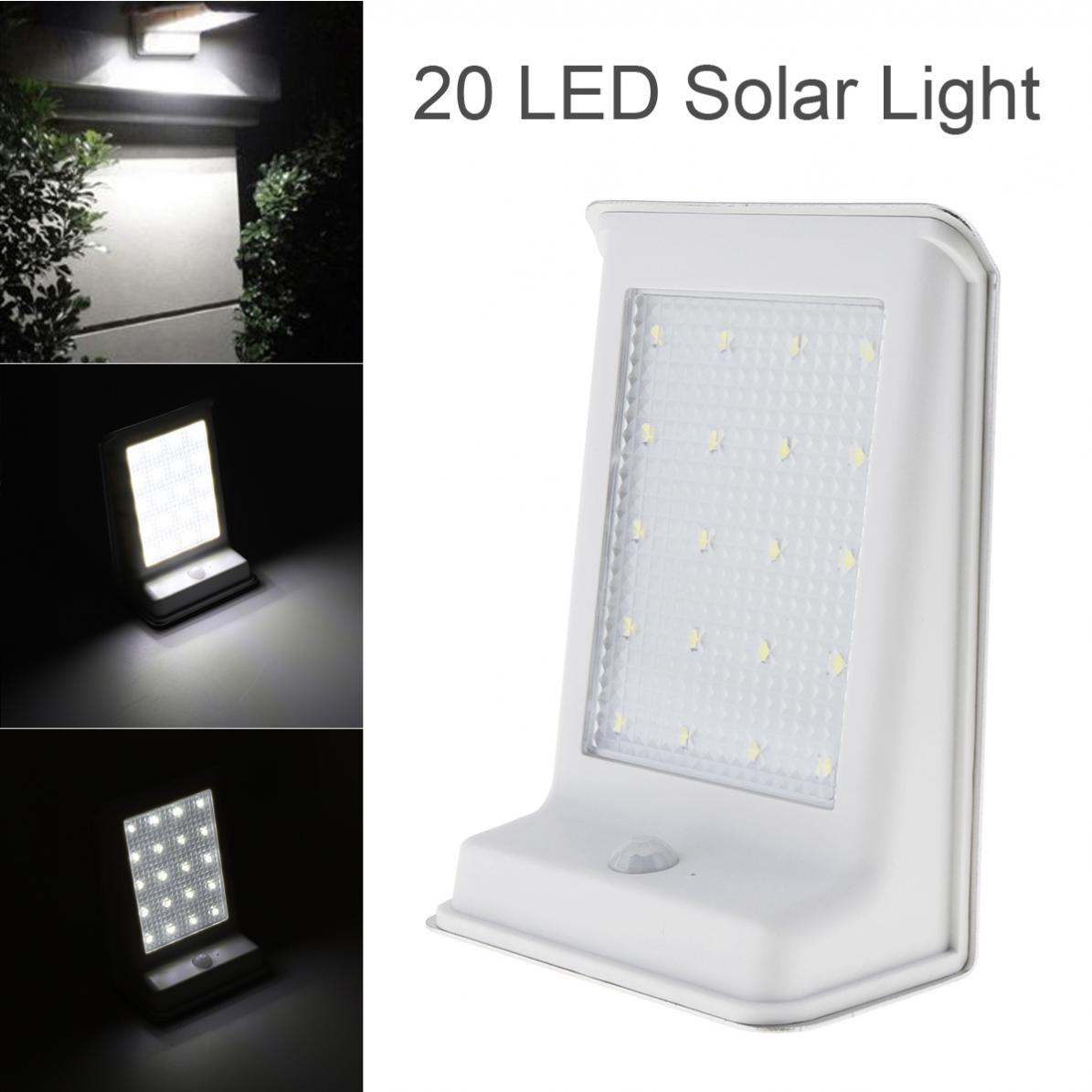 Durable Waterproof 20 LED Solar Power Outdoor Security Light Lamp PIR Motion Sensor