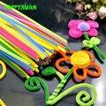2 pacotes (200 pcs) multicor chenille caules limpadores de cachimbo artesanal diy art & craft material crianças criatividade artesanato brinquedos