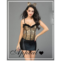 sex appeal underwear uniform temptation sexy hollow out separate body suit cat girl wear Babydolls & Chemises