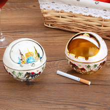 Europe ashtray Personality Fashion Capped Round ball Ash Tray Home decoration ashtrays Gift for Outdoor Indoor