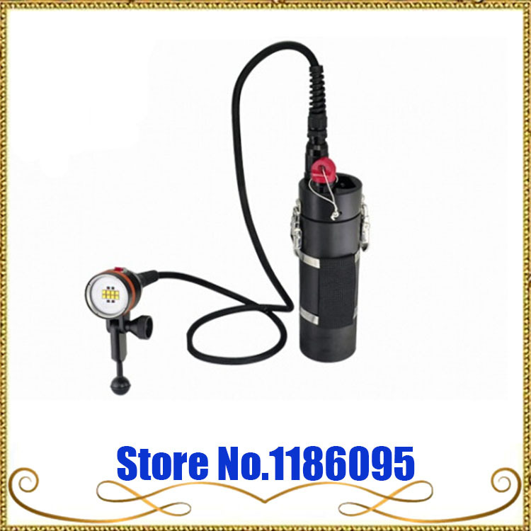ARCHON DH160 WH166 flashlight Canister Diving Video Light XM-L2 LED 5000lm Rechargeable Li- ion Battery Pack Scuba Dive Torch