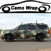 Military Green Camouflage Film Vinyl Army Car Wrap Air Free Bubble PVC Adhesive Car Styling Sticker Vehicle Car Wrapping Decal