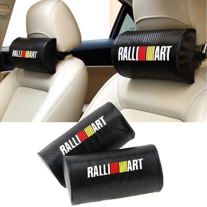 For Mitsubishi Lancer 10 9 X Asx Outlander 3 Pajero L200 Carisma Colt Grandis Galant RALLIART Car Headrest Neck Safety Pillows автомобильный dvd плеер hotaudio 10 2 4 4 4 gps mitsubishi lancer galant 1 6g 1g ram