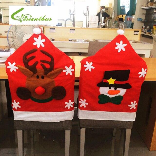 1 TEILE/LOS Vater Weihnachten Stuhlhussen Esszimmer Stuhl Sitzbezug Zurück  Abdeckung Mantel Home Party Decor
