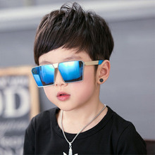 Vintage Square Novelty Sun Glasses Unisex Sunglasses Trendy  Silicone Safety Gift For Children