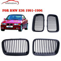 New Pre-Facelift  Matte Black Front Grilles Kidney Grill For BMW 3 Series E36 325i 1991 1992 1993 1994 1995 1996 C/5