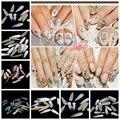 50 unids Strass Chatons Rhinestones de Flatback Pegamento de Cristal Gota de Agua de Long Muchos Colores Cristales Y Piedras DIY Nails Art suministros