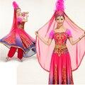 Chino Xinjiang Uighur de representación escénica ropa trajes de ropa de baile de Traje Minoría