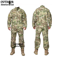 Tactical US RU Army Camouflage Combat Uniform Men BDU Multicam Camo Military Uniform Clothing Set Airsoft Outdoor Jacket + Pants