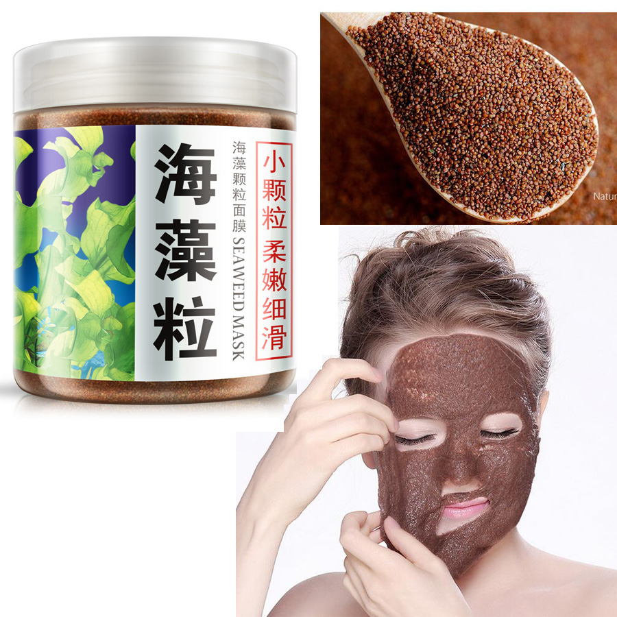 1 bottle 200g Pure Seaweed Alga Mask Powder Algae Mask Acne Spots Remove Whitening&Moisturizing Facial Mask