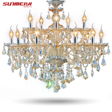 Modern Crystal Chandelier  Living Room lustres de cristal Decoration Tiffany Pendants and Chandeliers Home Lighting Indoor Lamp