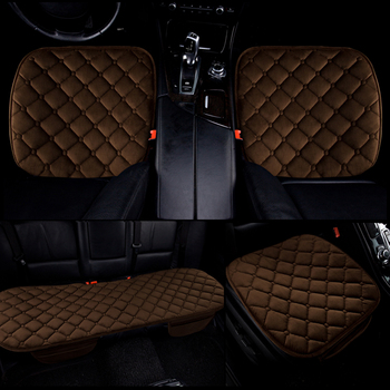 Dewtreetali Car Seat Cover Universal Auto Seat Protector Pad Velvet Breathable Winter Cushion 3pc/set Car Interior Accessories