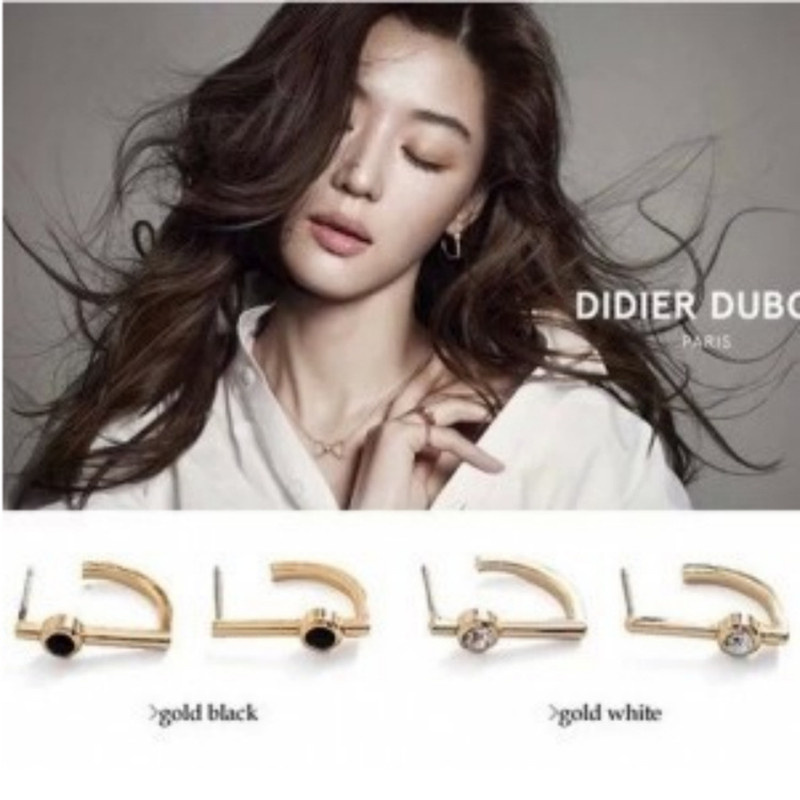 C101 Brincos New Style 2018 Fashion I-shaped Rose Crystal Stud Earrings For Women Jewelry Accessories Pendientes