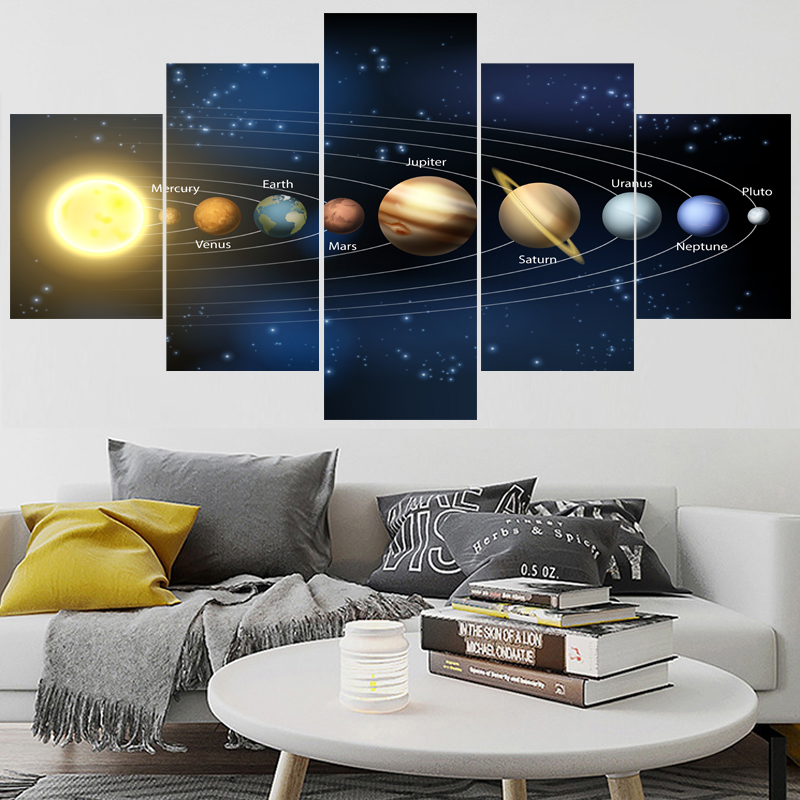 Soft Cashmere Scarf For Women Fashion Lady Shawls,Comfortable Warm Winter Scarfs Saturn Blue Mars Solar System Pluto Planet On White Of This Furnished By Nasa Mercury Neptune