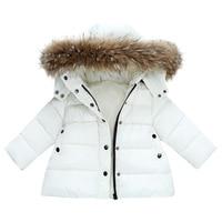 Children's clothing girls Winter warm medium and long middle children Korean version thickened plus velvet big hair down jacket