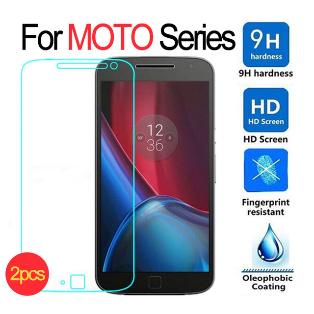 2pcs Tempered Glass Screen Protector For Motorola Moto G4 G5 Plus G5 Z X Play Style E E2 X X2 G G2 Nexus 6 Droid Turbo Film Case