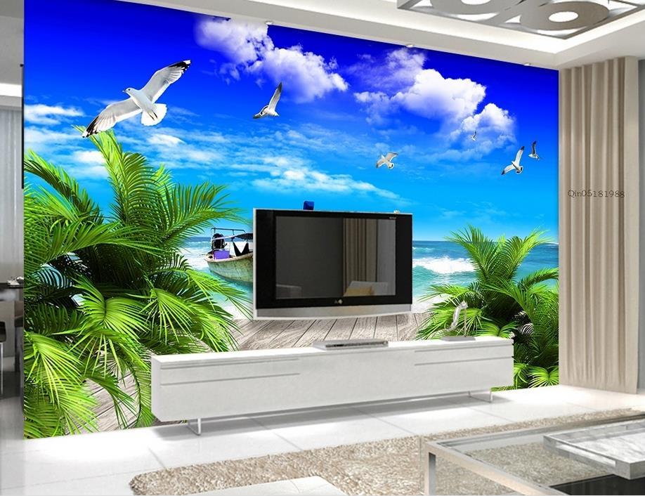 customize 3d luxury wallpaper Gold Coast beach 3d wall paper photo murals bedroom wallpaper papel pintado moderno