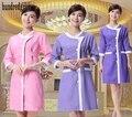 Uniformes médicos 2017 friega la ropa de enfermería para la tienda de belleza de manga corta uniformes de hospital médico clothing women work dress