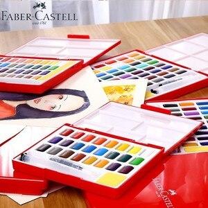 Image 3 - Faber Castell 24/36/48 Colori Solido Set Pittura Ad Acquerello pennello di acqua di Colore Brillante Portatile Acquerello Pigmento contenitore di regalo