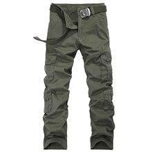 Frühling Herbst Beiläufige Lose Gute Qualität Askeri Pantolon Baumwolle Multi Taschen Herren Hosen Hosen