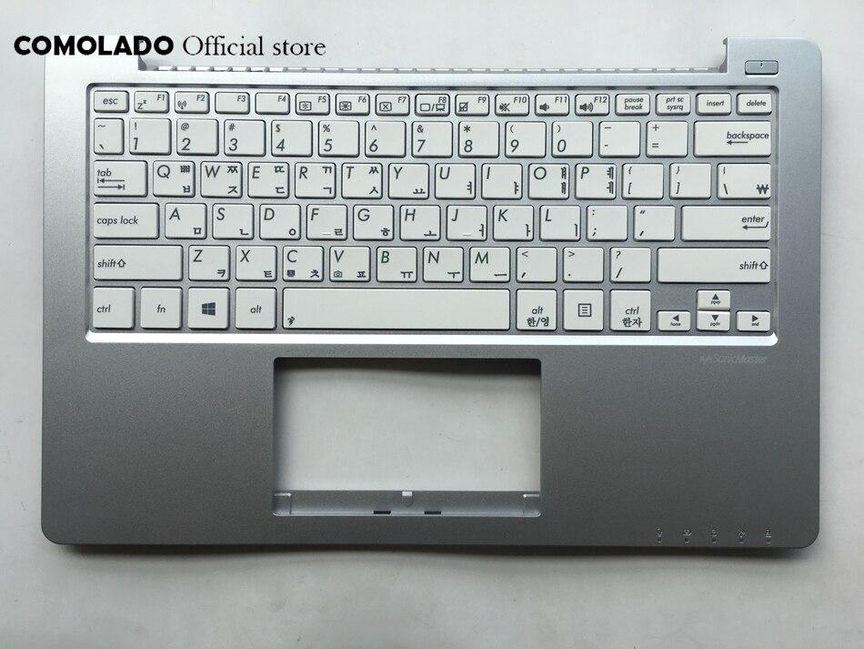 KR Korean keyboard For ASUS X201 X201E Palmrest Cover White key keyboard KR Layout Price $30.25