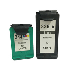 vilaxh 2pcs 339 344 Remanufactured Ink Cartridge For HP for Deskjet 460 5740 5745 Photosmart 2575 2610 2710 Printer