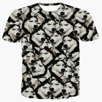 Chine En Gros Drôle Tête chien 3d Animal Numérique Imprimer T Shirt Homme T-shirts Tops