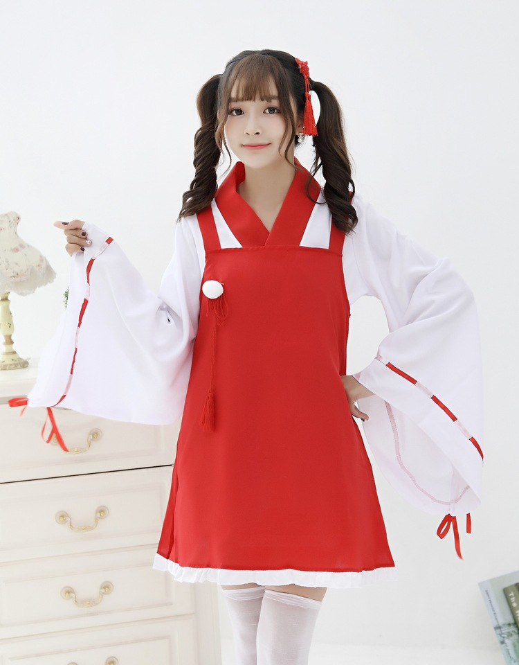 Halloween Kikyou withc japanese kimono cosplay costume adulto lovely Animation costume for women fancy Cosplay party sexy Dress