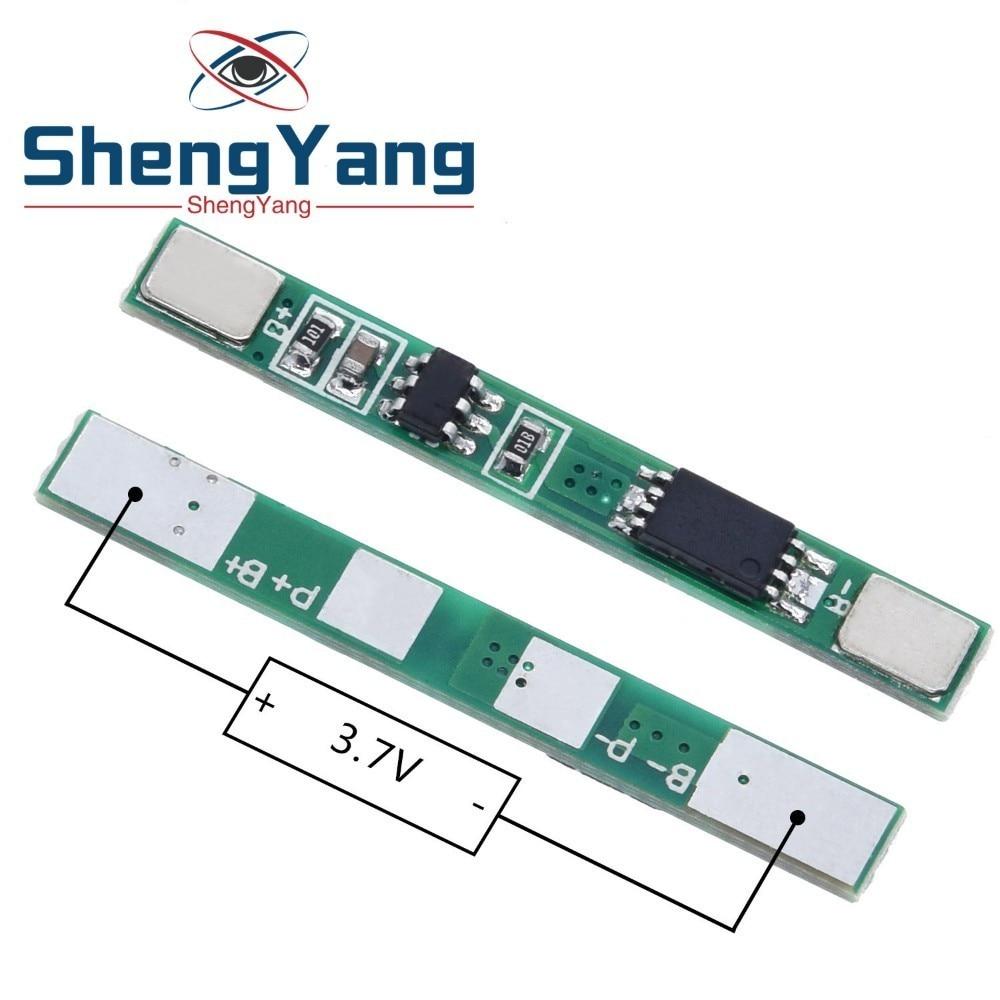 ShengYang 5 шт./лот 1S 3,7 в 3A Защитная плата для литий-ионного аккумулятора BMS PCM для литий-ионного аккумулятора 18650