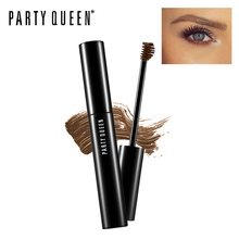 Party Queen Eyebrow Mascara Dye Sourcils Eyebrow Enhancers Tinted Sculpting Gel with Ball Brush Makeup Natural Colored Finish