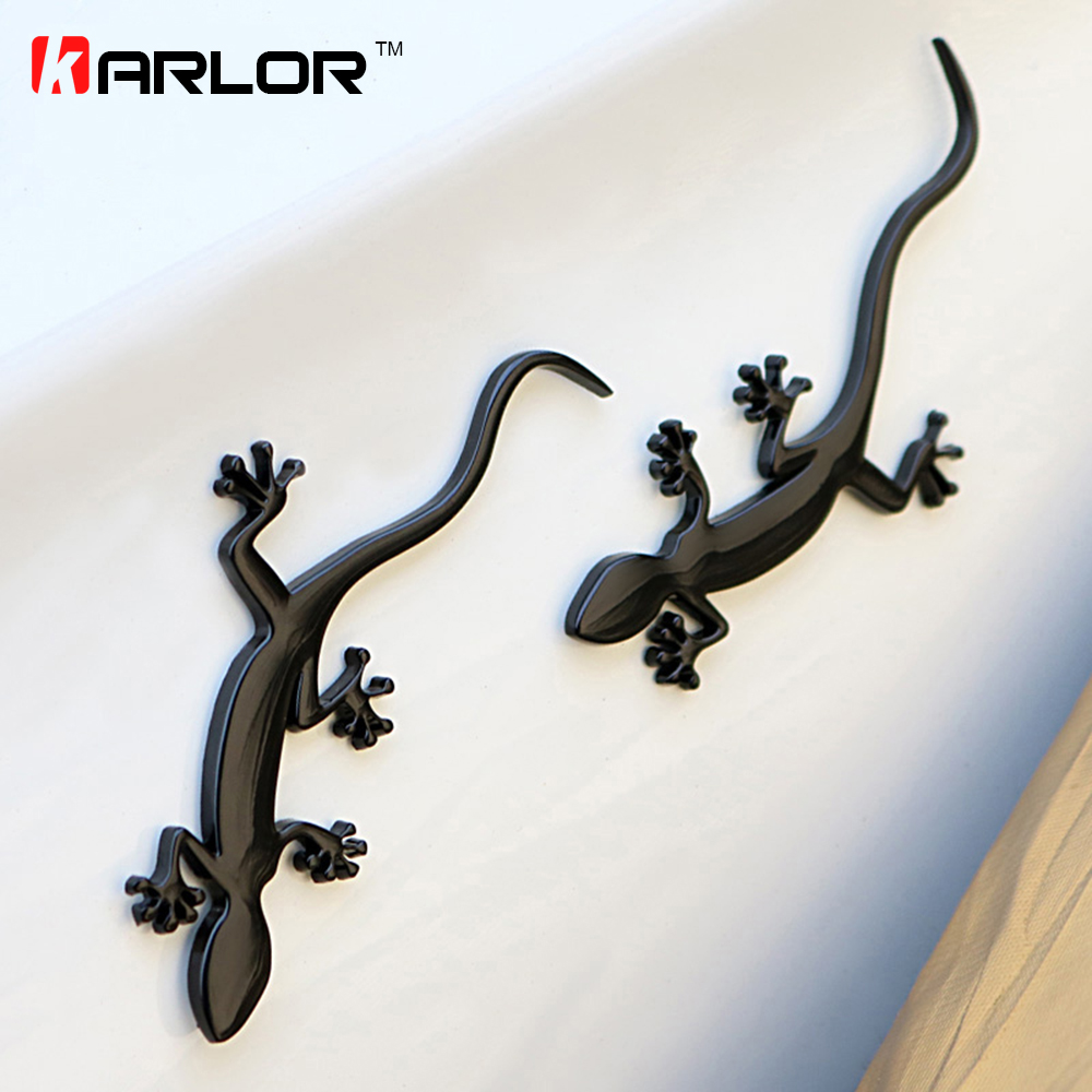 Gecko Lizard Quattero 3D Metal Ho Car Auto Motorcycle Logo Emblem Badge Car Styling Stickers Automobiles Car-Styling Accessories auto car motorcycle metal 3d alienware alien head ufo badge emblem decal sticker